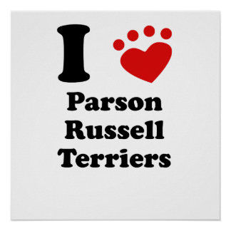 I Heart Parson Russell Terriers Posters