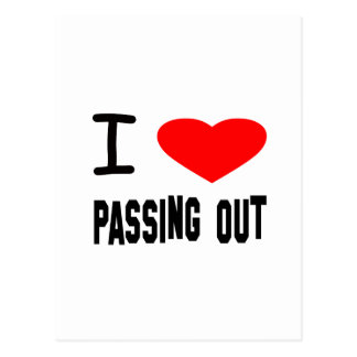 I Heart Passing Out Postcard