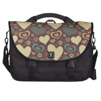 I Heart Patterns Laptop Commuter Bag