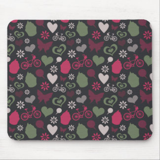 I Heart Patterns Mouse Pad