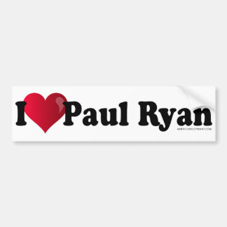 I Heart Paul Ryan Bumper Sticker -White