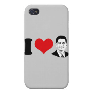 I HEART PAUL RYAN - png Cover For iPhone 4