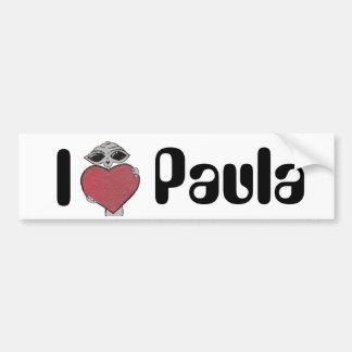 I Heart Paula Alien Bumper Sticker