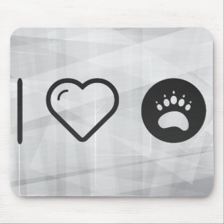 I Heart Paw Stickers Mouse Pad