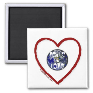 I Heart - Peace and Love - Magnet