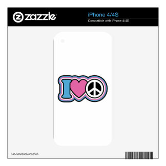 I HEART PEACE SKINS FOR THE iPhone 4S