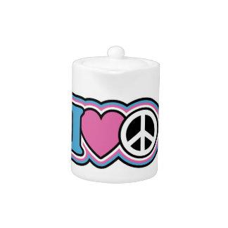 I Heart Peace Teapot