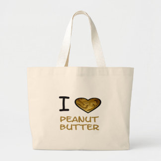I Heart Peanut Butter Large Tote Bag