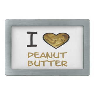 I Heart Peanut Butter Rectangular Belt Buckle