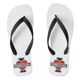 I Heart Pennsylvania Flip Flops