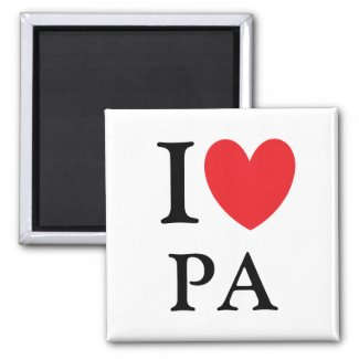 I Heart Pennsylvania Magnet magnet