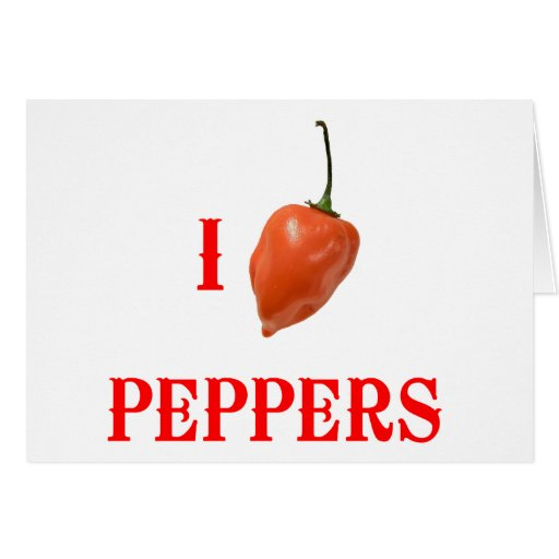 I (Heart) Peppers Greeting Card