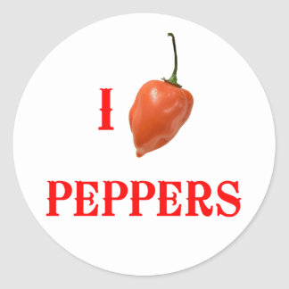 I (Heart) Peppers Sticker