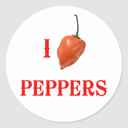 I (Heart) Peppers Sticker