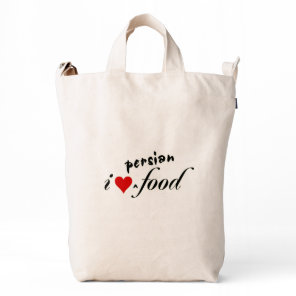 I heart persian food duck bag