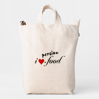 I heart persian food duck canvas bag