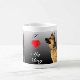 I (heart) Personalised German Shepherd Classic White Coffee Mug