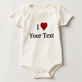 I Heart (personalize) baby   Bodysuit
