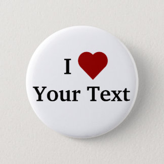 I Heart (personalize) button