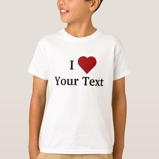 I Heart (personalize) kids t-shirt
