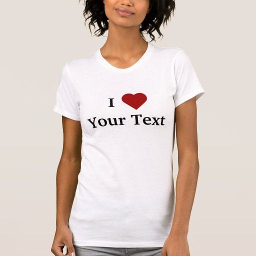 I Heart (personalize) t-shirt