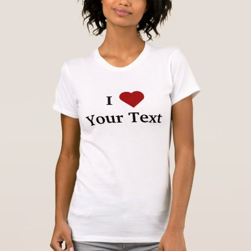 I Heart personalize t_shirt