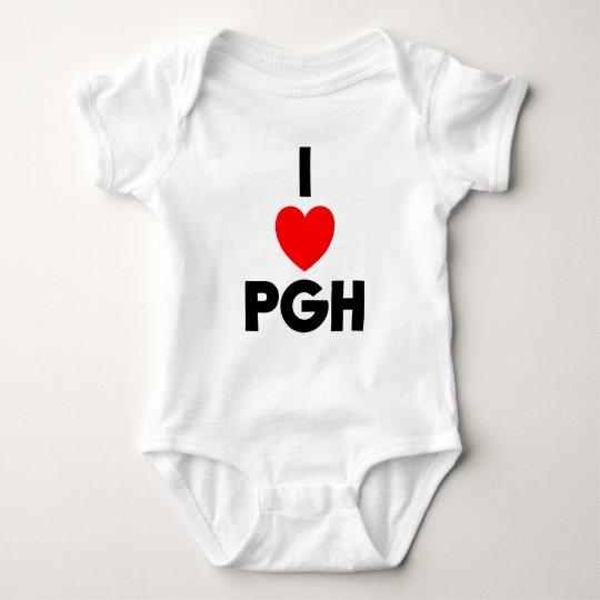 I Heart PGH Baby Bodysuit