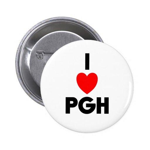 I Heart PGH Buttons