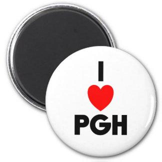I Heart PGH Fridge Magnets