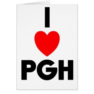 I Heart PGH Greeting Card