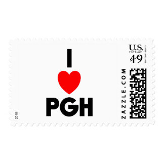 I Heart PGH Postage Stamps