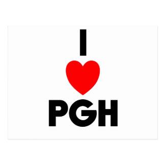 I Heart PGH Postcard