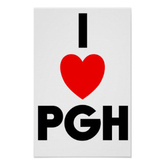 I Heart PGH Poster