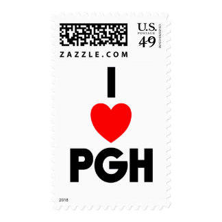 I Heart PGH Stamps