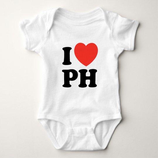 I Heart PH Baby Bodysuit
