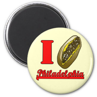 I heart Philly cheesesteaks refrigerator magnet
