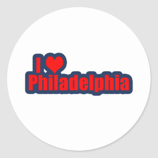 "I ""Heart"" Philly Classic Round Sticker"