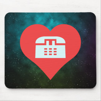 I Heart Phone Calls Icon Mouse Pad
