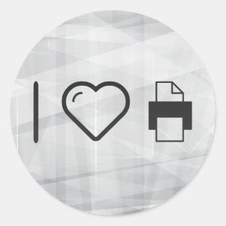I Heart Photocopies Classic Round Sticker