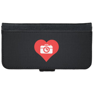 I Heart Photographers Icon iPhone 6 Wallet Case