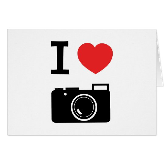 I HEART PHOTOGRAPHY CARD
