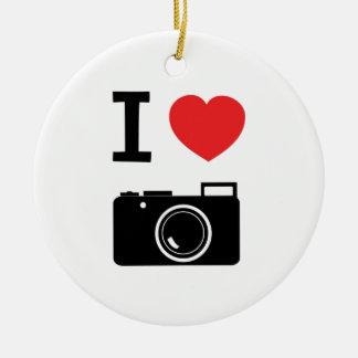 I HEART PHOTOGRAPHY CERAMIC ORNAMENT