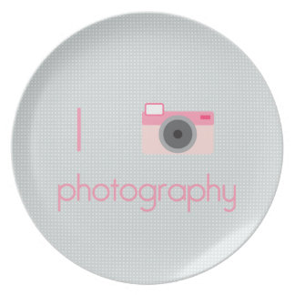 I Heart Photography Dinner Plate