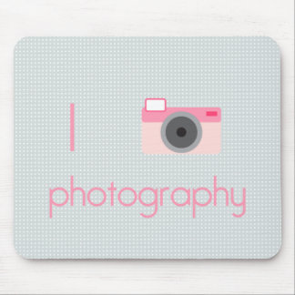 I Heart Photography Mouse Pad