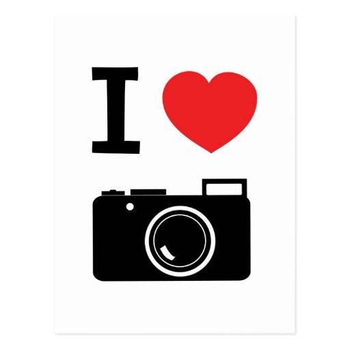 I HEART PHOTOGRAPHY POSTCARD