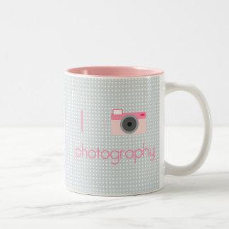 I Heart Photography Two-Tone Coffee Mug