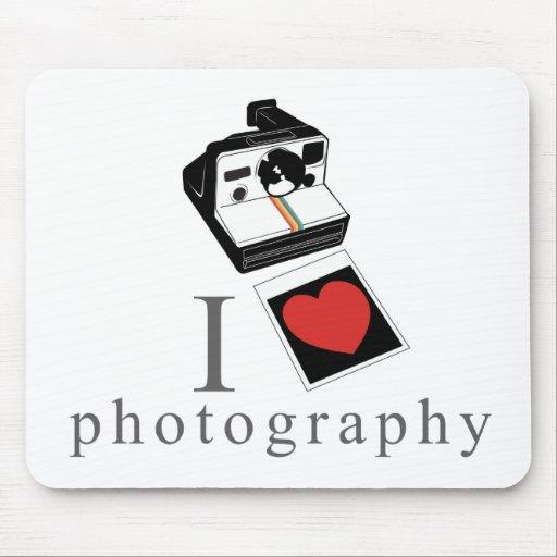 I heart photos mouse pad