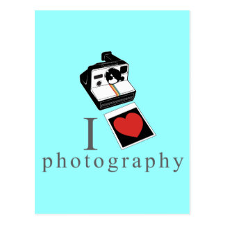 I heart photos postcard