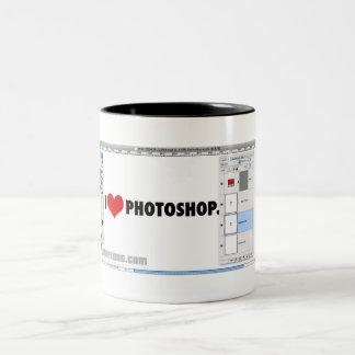 I Heart Photoshop Two-Tone Coffee Mug