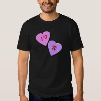 I Heart Pi Candy Hearts T-shirts